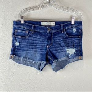 Abercrombie & Fitch distressed denim shorts 10